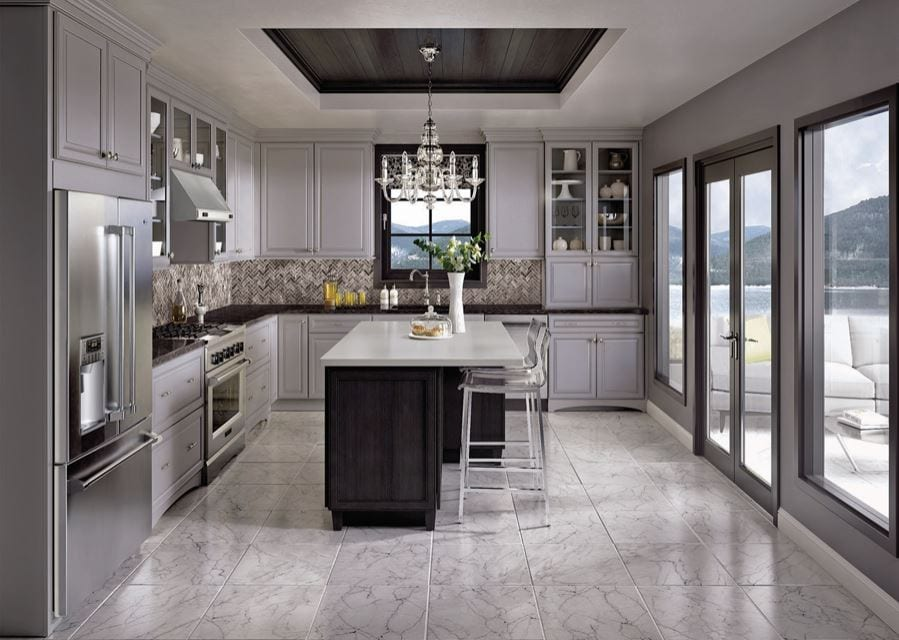 Combining Cabinet Finishes, Inspired Kitchen Design